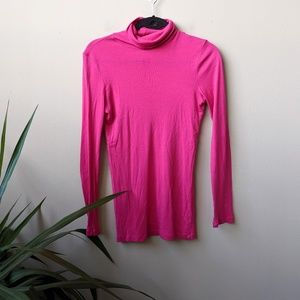Splendid Pink Long Sleeve Turtleneck Sweater sz M